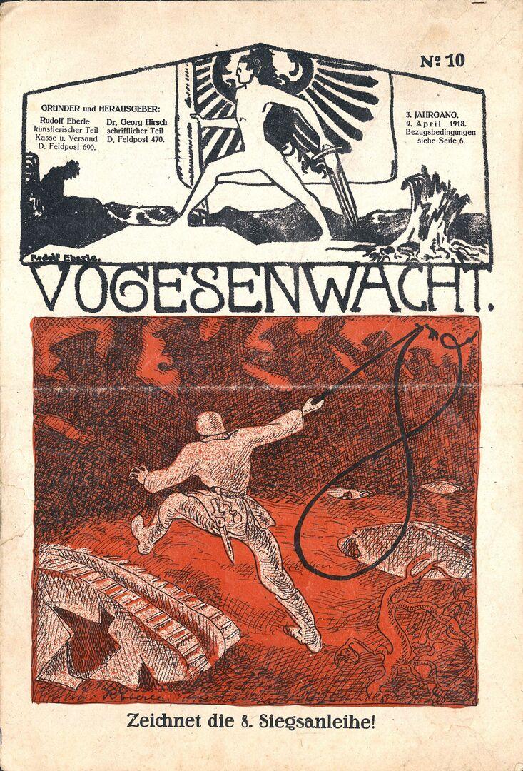 Vogesenwacht, Titelbild 9.4.1918.jpg