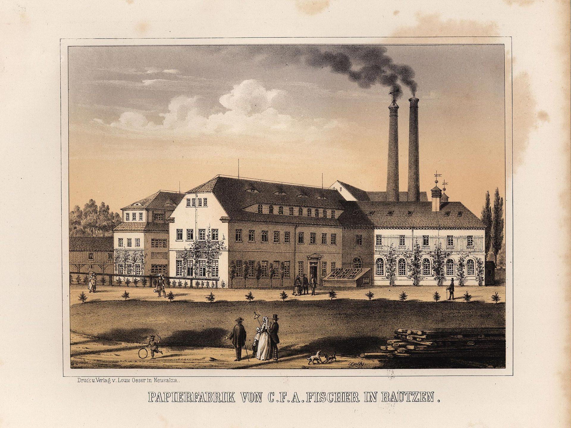 Papierfabrik von C. F. A. Fischer in Bautzen