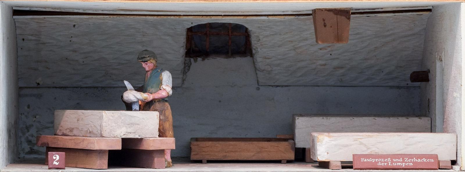 Papiermühle: Faulprozess und Zerhacken der Lumpen