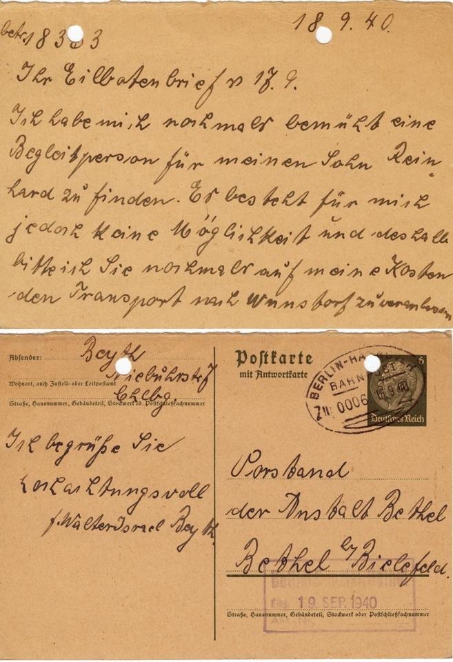 HAB JüdPat, 9_Postkarte 18 September 1940_beideSeiten.jpg