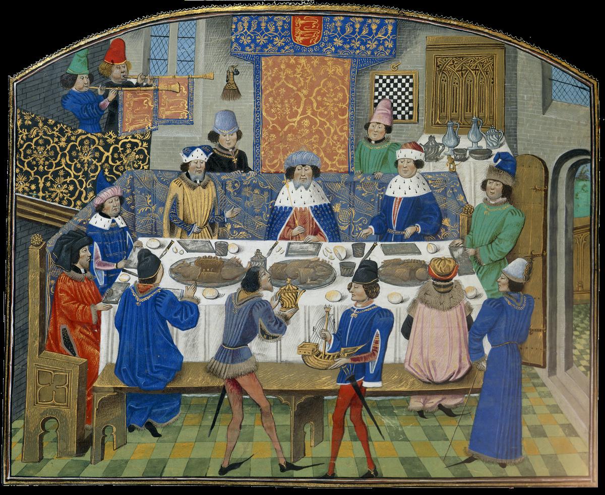 Dukes of York, Gloucester and Ireland_BL Royal 14 E IV 265v.png