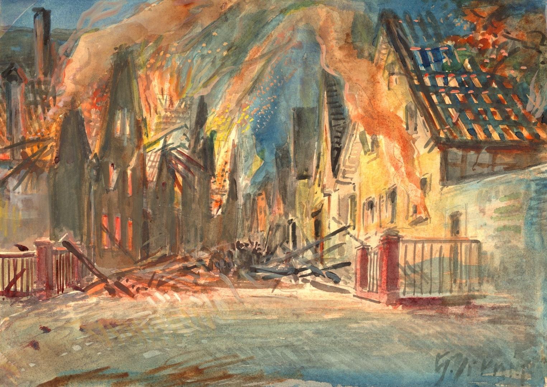 Brennende Kirchgasse in Eberstadt