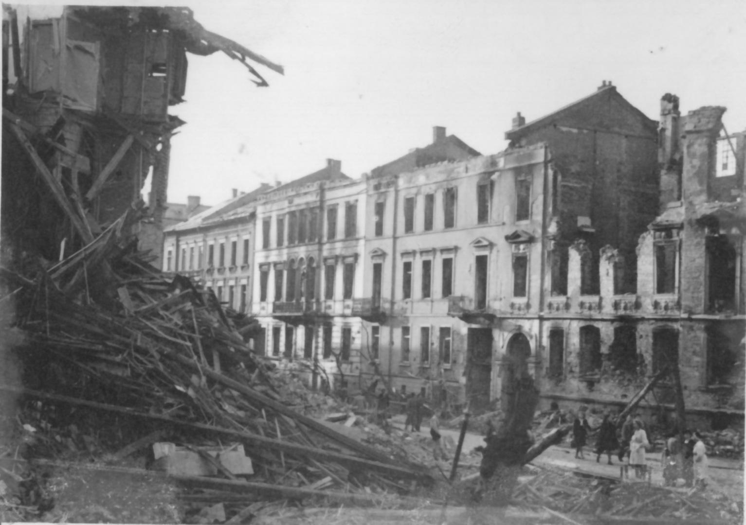 Zerstörte Häuser in der Alicestraße
