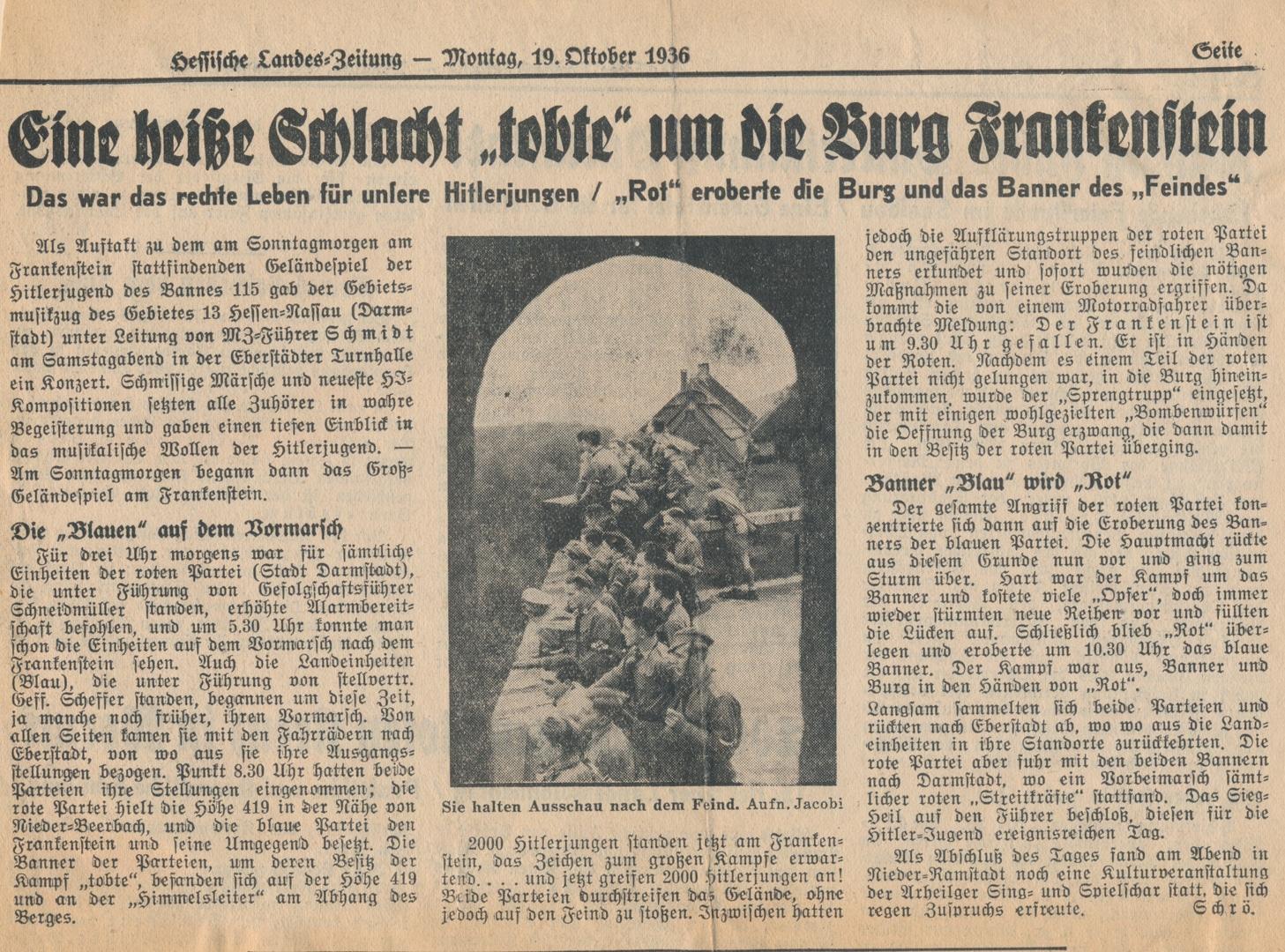 Hitlerjugend übt sich im Kriegsspielen