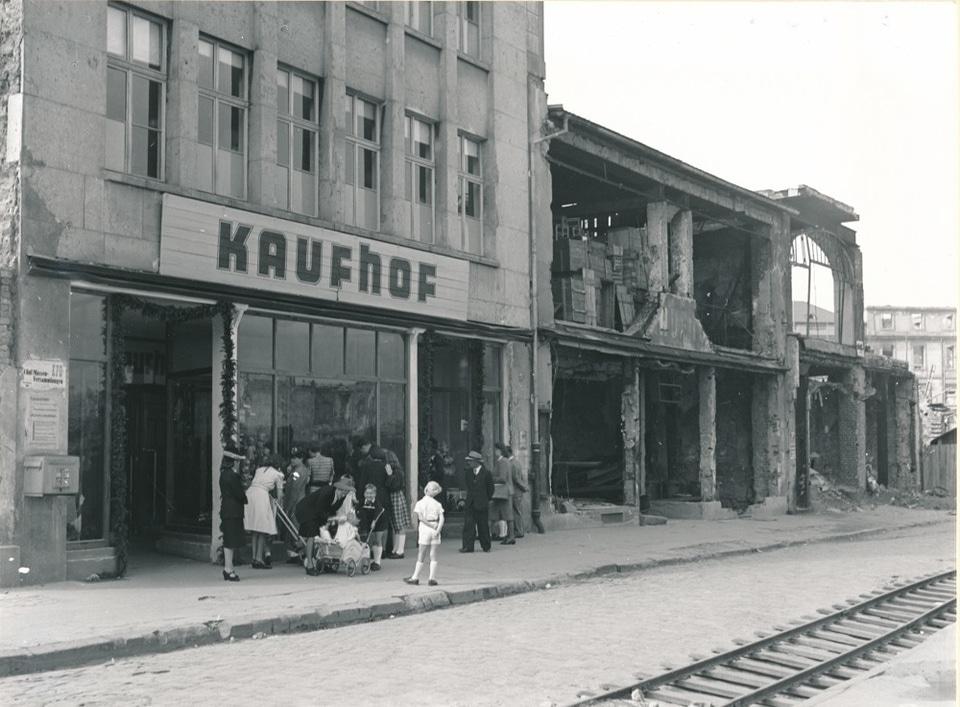 Erste Kaufhoffiliale in Darmstadt