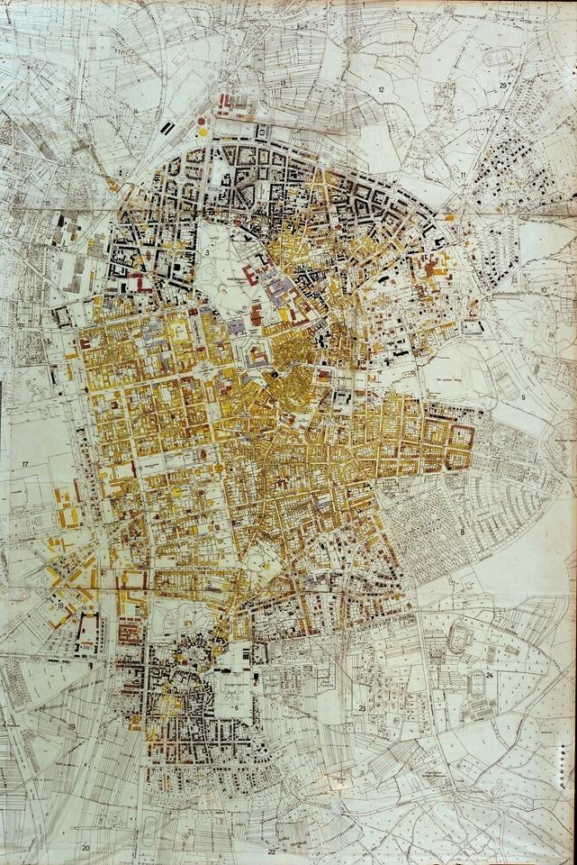 Zerstörungsplan der Stadt Darmstadt