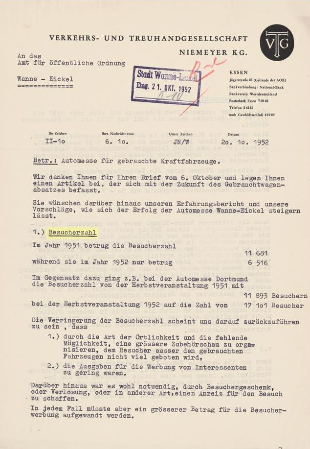 Automesse Wanne-Eickel für gebrauchte Kraftfahrzeuge, 1952.jpg
