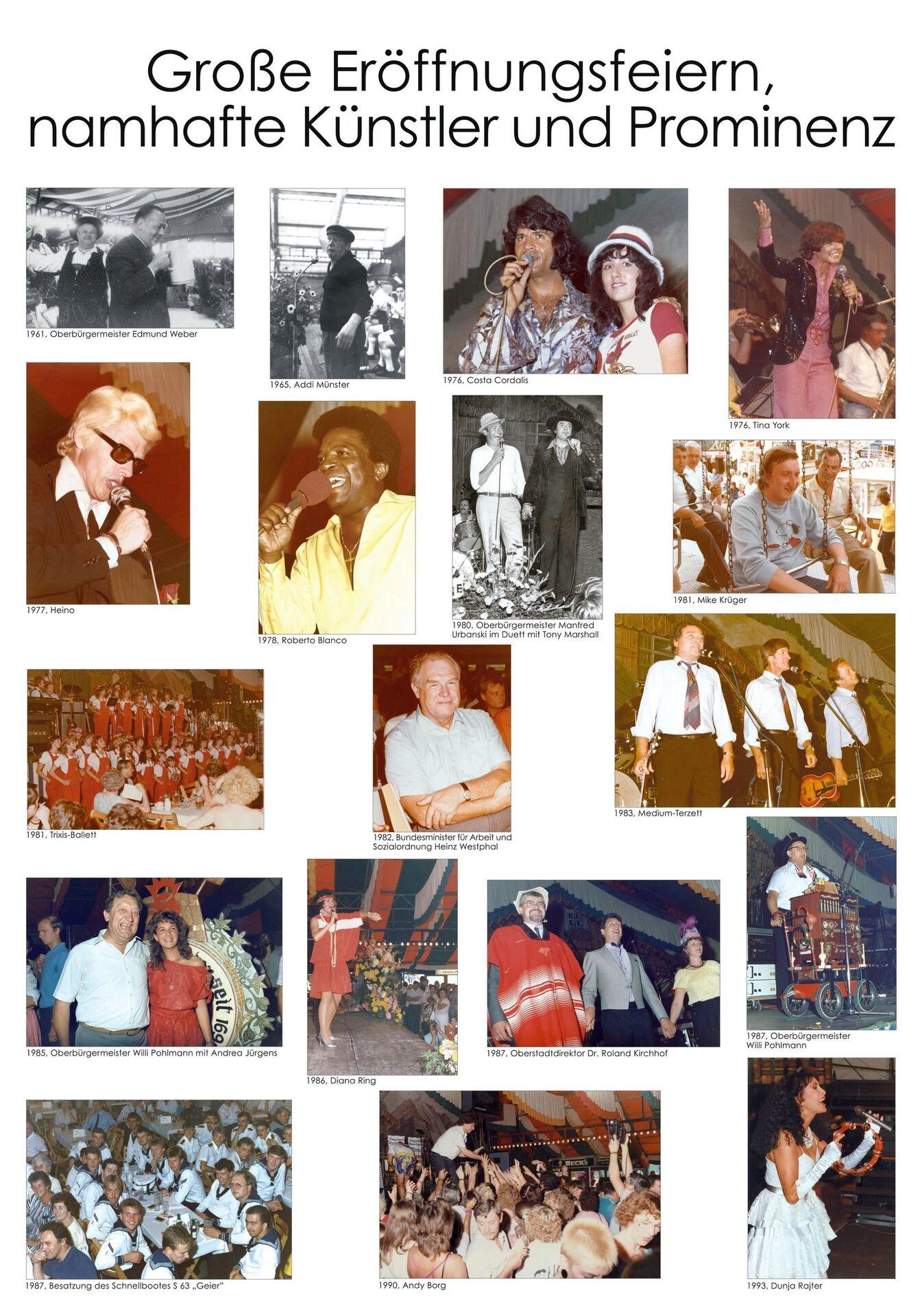 Große Eröffnungsfeiern, namhafte Künstler und Prominenz, Tafel 1.jpg