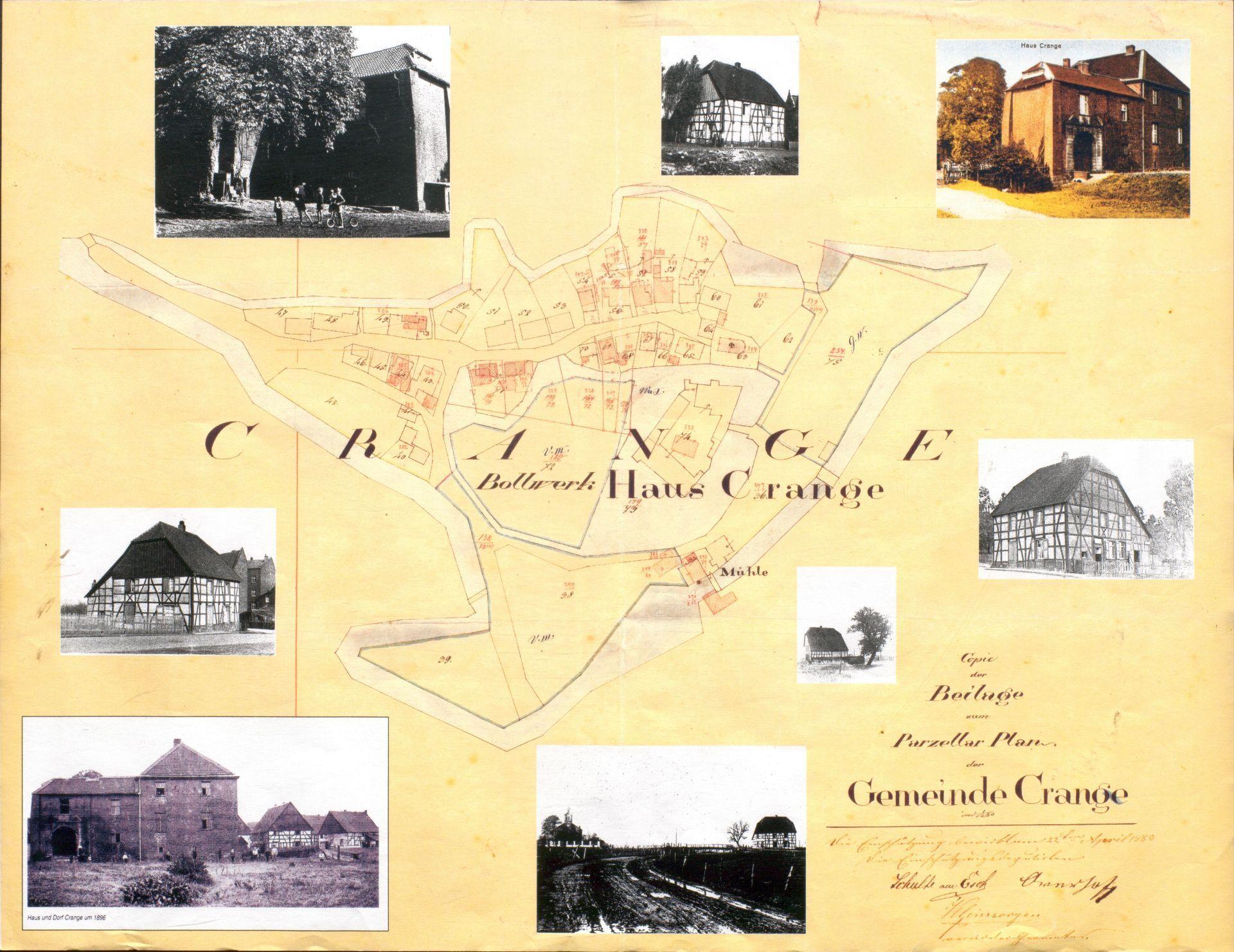 Karte des alten Dorfes Crange mit seinen historischen Gebäuden..jpg