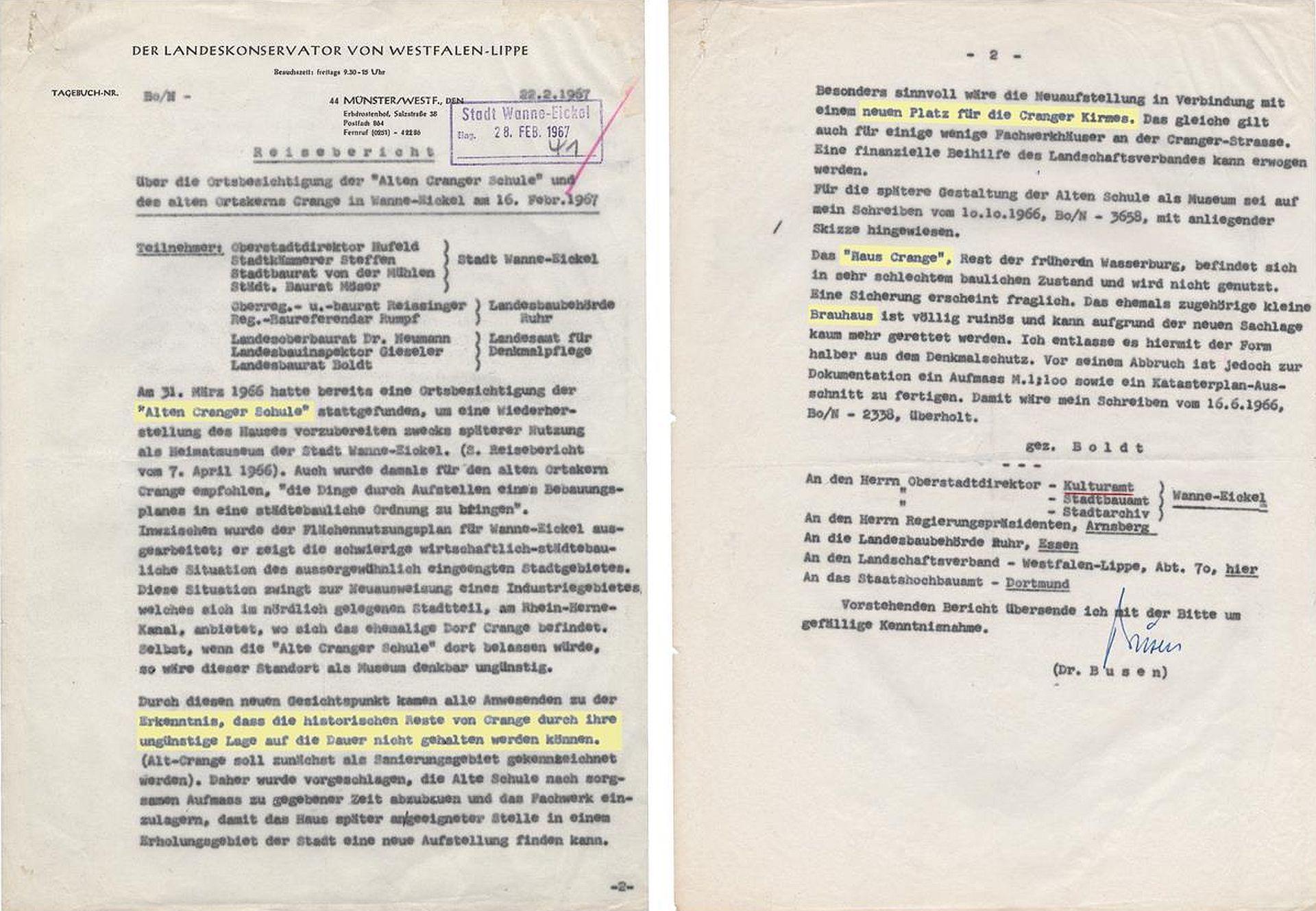 Bericht des  Landeskonservators über  von Westfalen-Lippe über Alt-Crange, 22.02.1967.jpg