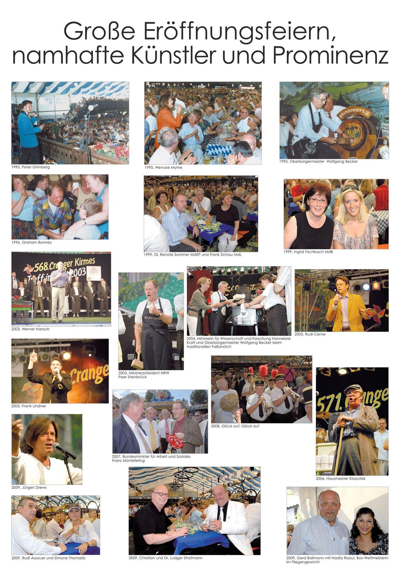 Große Eröffnungsfeiern, namhafte Künstler und Prominenz, Tafel 2.jpg