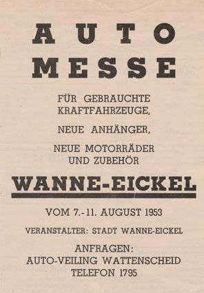 Werbung für die Automesse Wanne-Eickel, Kraftfahrzeug-Anzeiger Krefeld, 01.08.1953.jpg