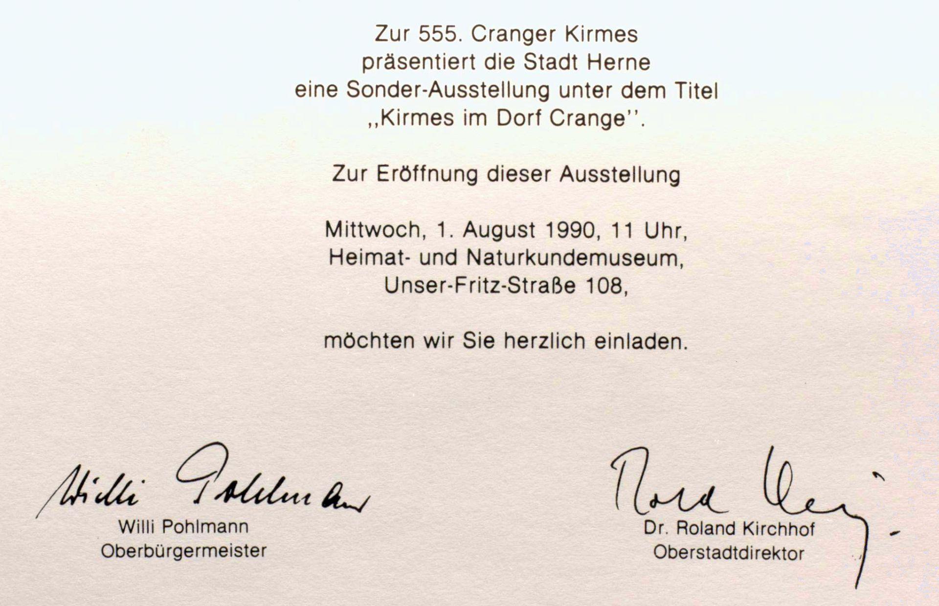 Einladung zurr Sonderausstellung 'Kirmes im Dorf Crange', 1990.jpg