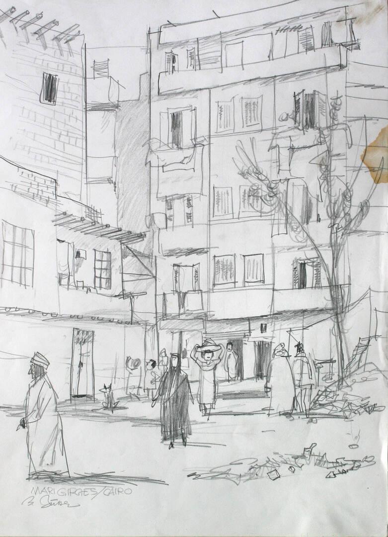 Benno Butter - Ägyptenzeichnung 1984 - Bild privat.jpg