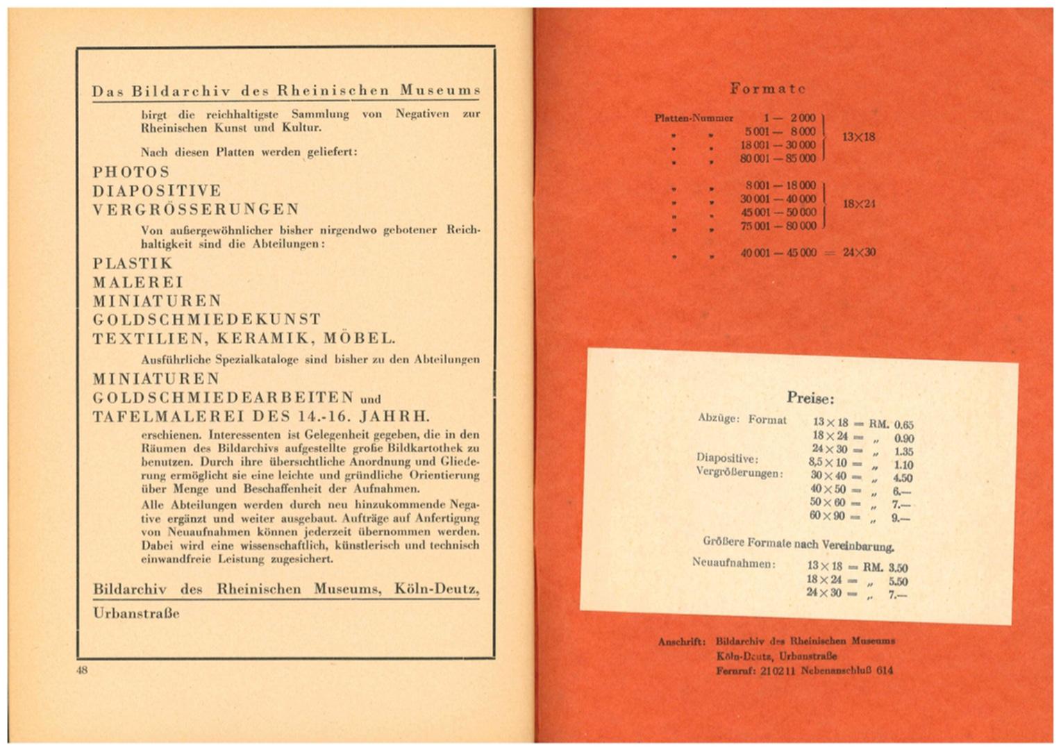Bildarchiv des Rheinischen Museums Köln 1935 Tafelmalerei Preise.jpg