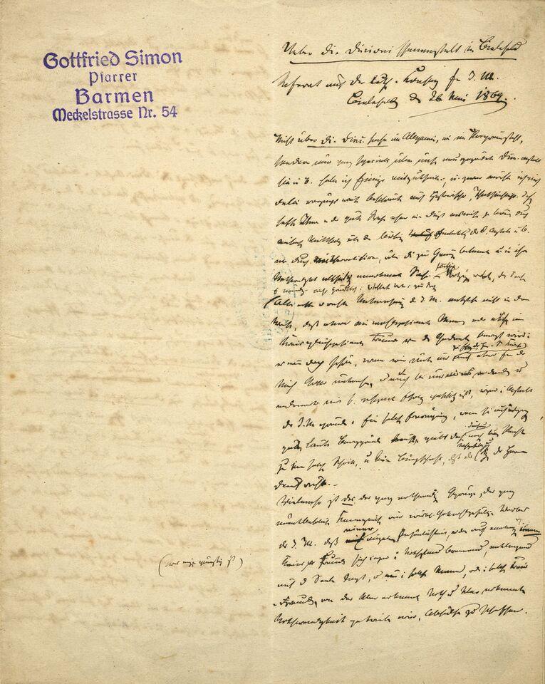 Referat Gottfried Simon über Sarepta 1869_Original, Seite 1.jpg
