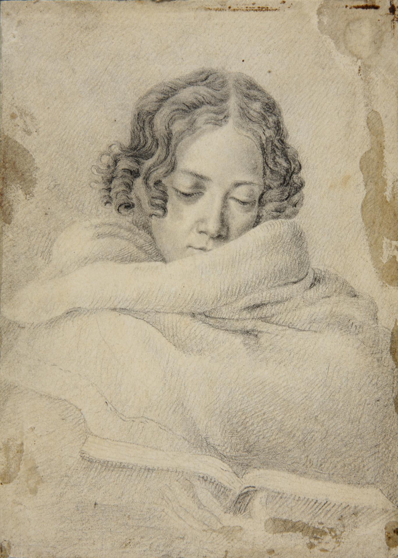 Bettine Brentano, Zeichnung von Ludwig Emil Grimm, um 1809
