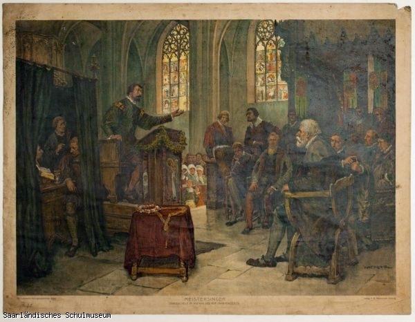 Meistersinger (Singeschule im Anfang des XVI. Jahrhunderts)