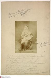 Gedenkblatt für Wilhelm Grimm zu dessen 68. Geburtstag von Bettina von Arnim