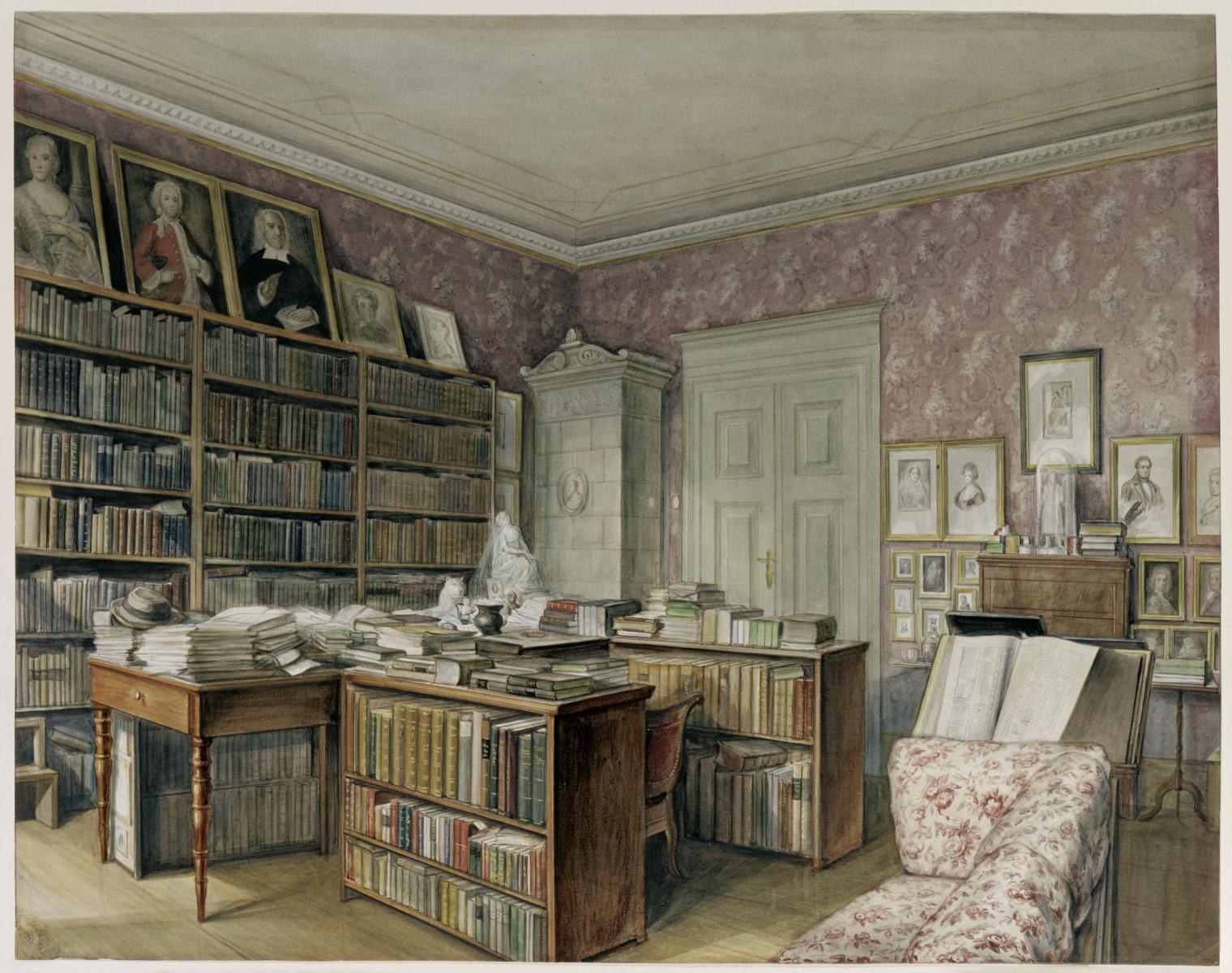 Arbeitszimmer von Jacob Grimm in der Linkstraße 7, Berlin