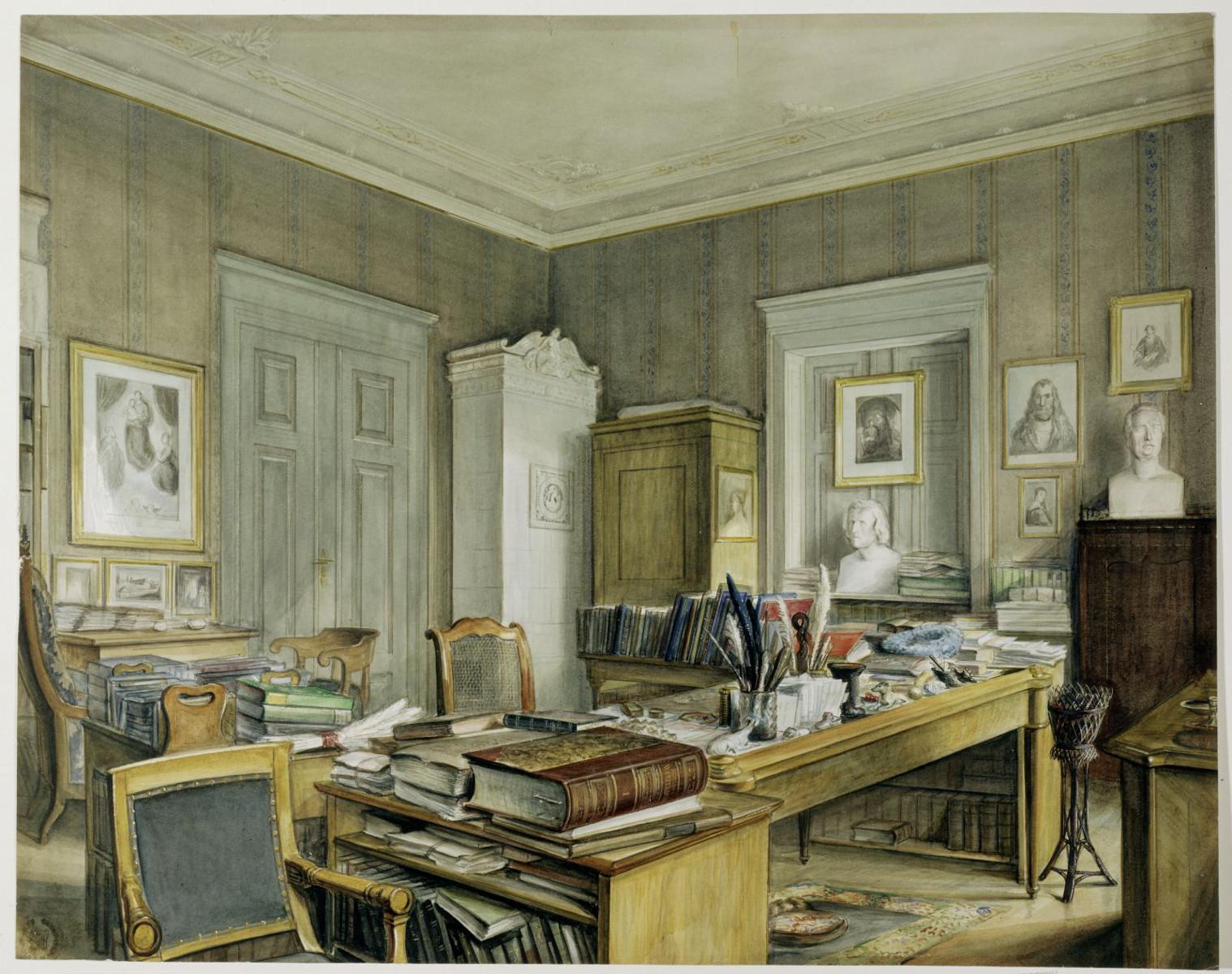 Arbeitszimmer von Wilhelm Grimm in der Linkstraße 7, Berlin