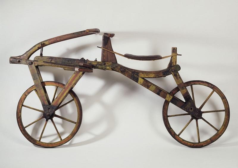 3D-Scan einer Laufmaschine aus dem Nachlass von Karl (von) Drais (1785–1851) im Stadtmuseum Karlsruhe