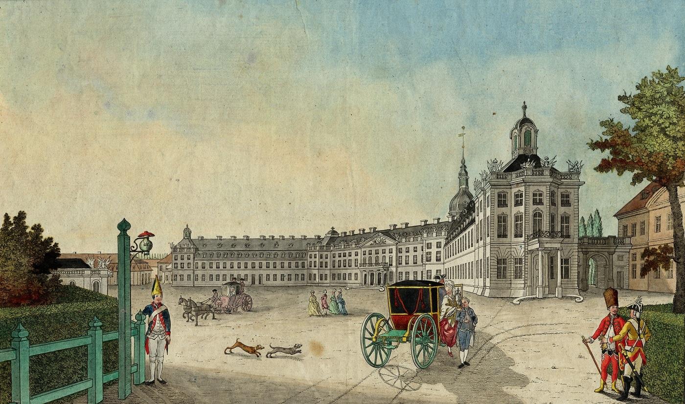Schloss Karlsruhe, um 1780