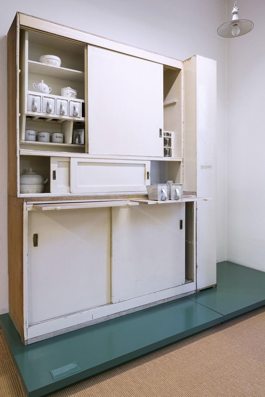 Kücheneinrichtung aus der Dammerstocksiedlung im Stadtmuseum Karlsruhe, 1929