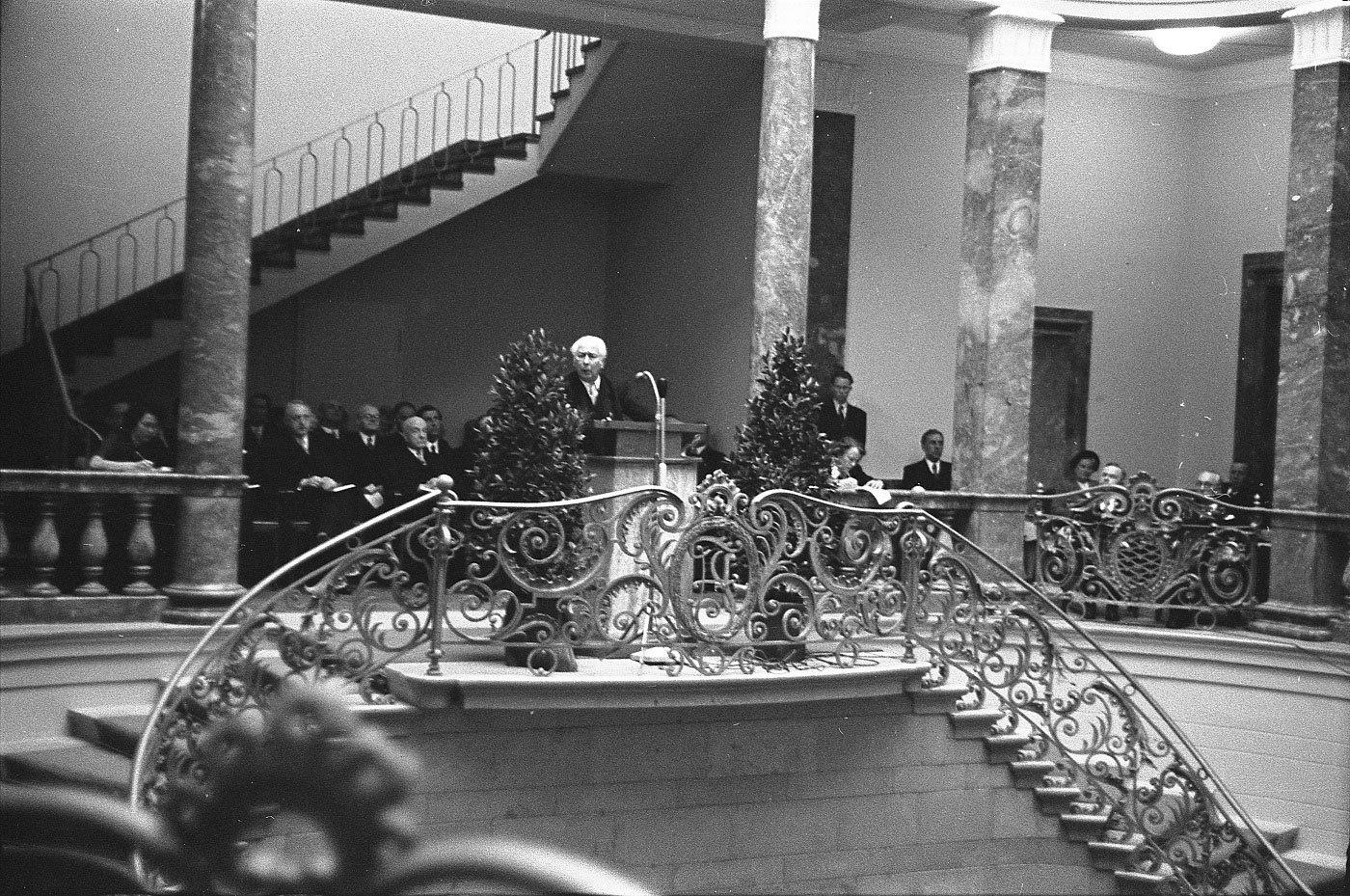 Eröffnung des Bundesgerichsthofs, 1950