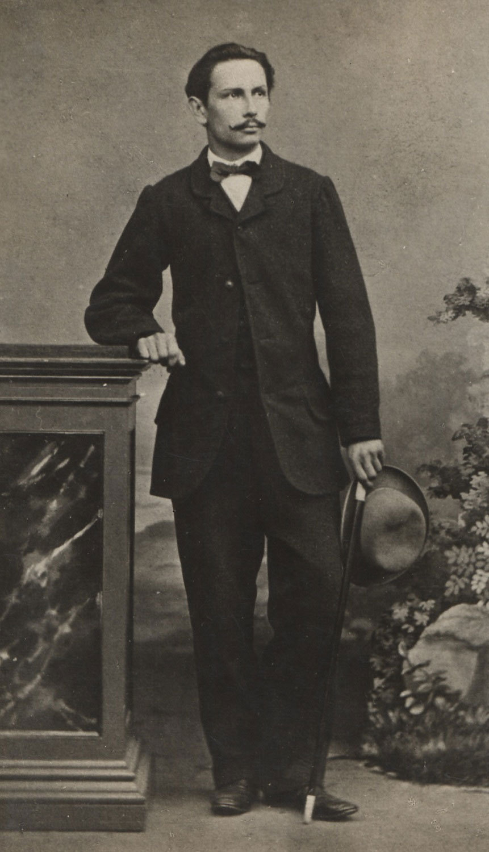 Carl Benz (1844–1929) als Student, um 1865