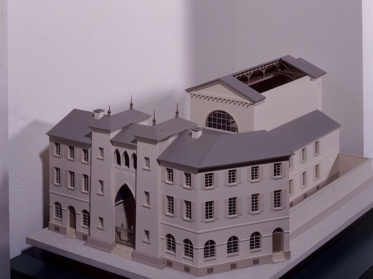 Modell der Synagoge der jüdischen Gemeinde im Karlsruher Stadtmuseum