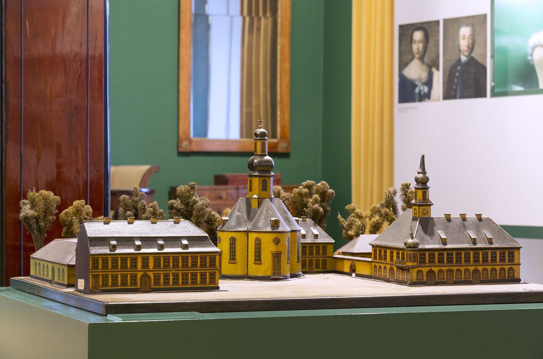 Modell des ersten Karlsruher Marktplatzes im Stadtmuseum Karlsruhe