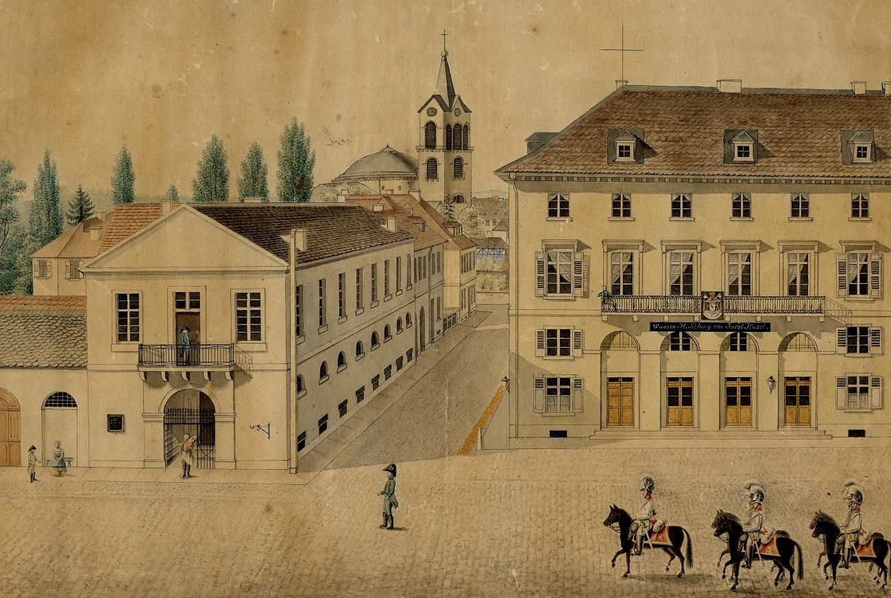Nordflügel des neuen Rathauses, nach 1813