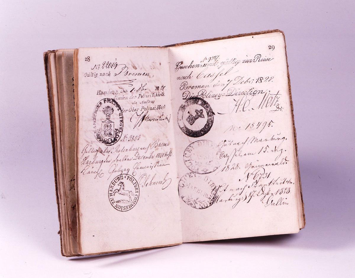 Wanderbuch des Schlossergesellen Ludwig Wagner, 1820er-Jahre