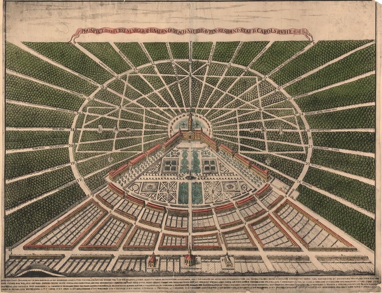 Stadtansicht von Heinrich Schwarz aus dem Jahr 1721