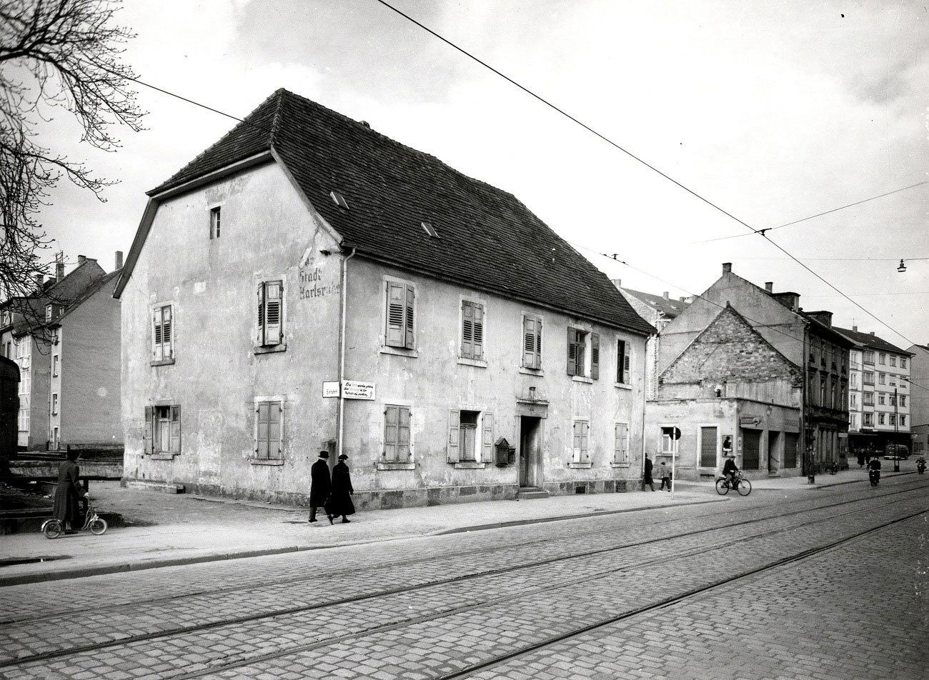 Das Geburtshaus von Carl Benz, um 1958