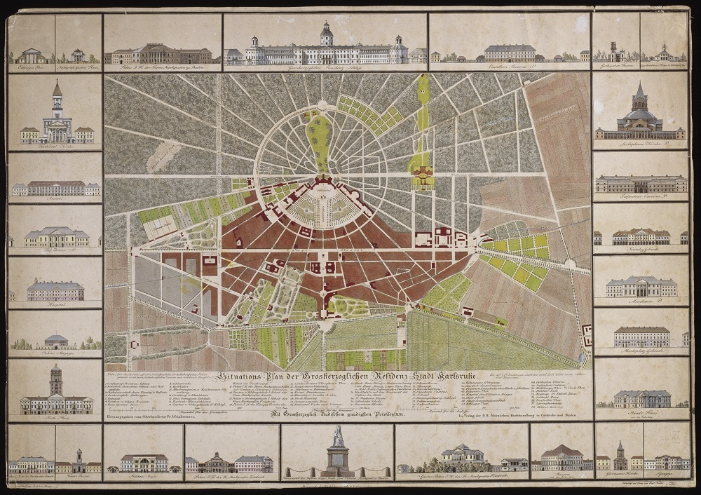 Stadtplan aus dem Jahr 1822