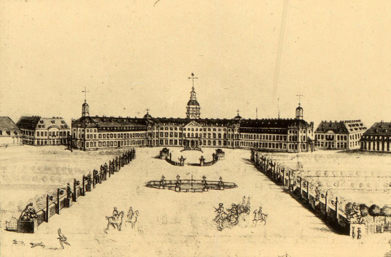 Das Karlsruher Schloss, um 1790