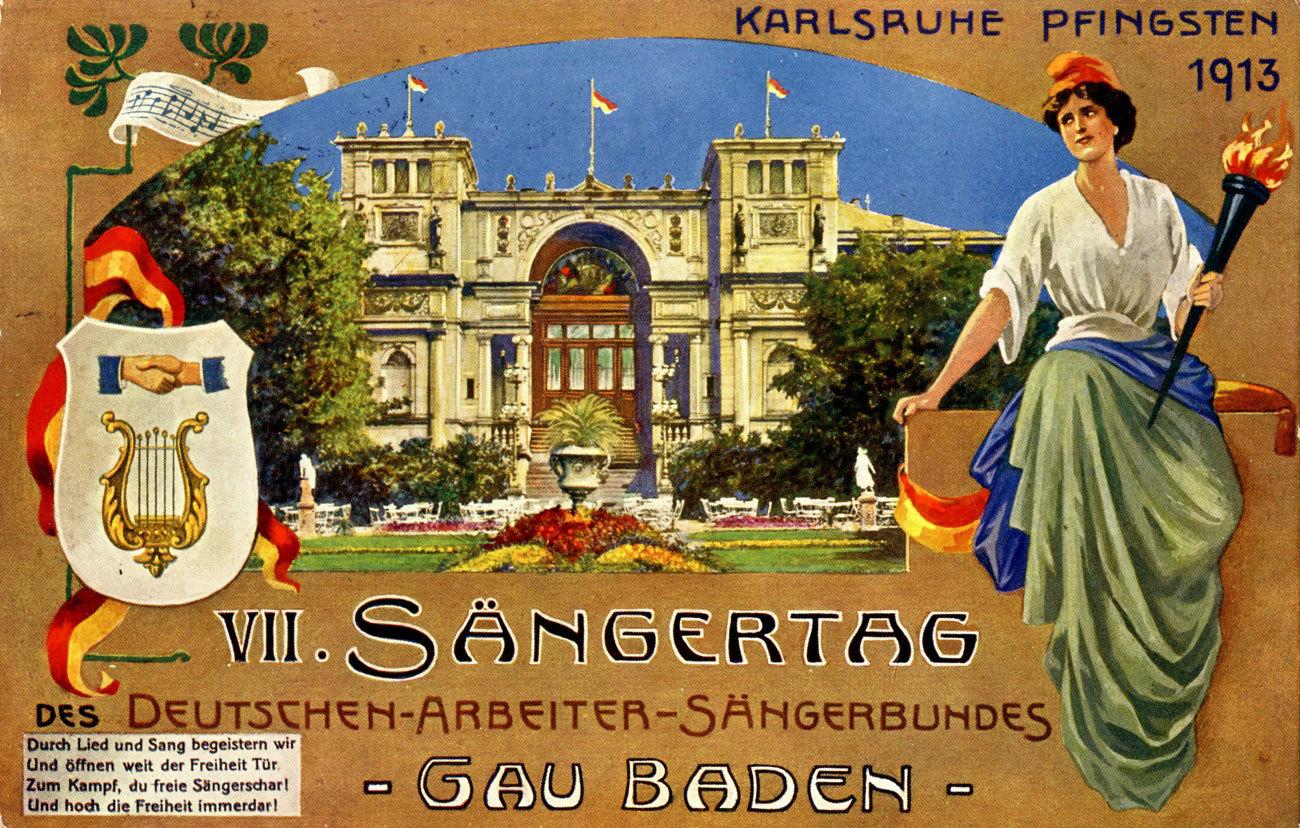 Sängerfest des Deutschen Arbeiter Sängerbundes, 1913