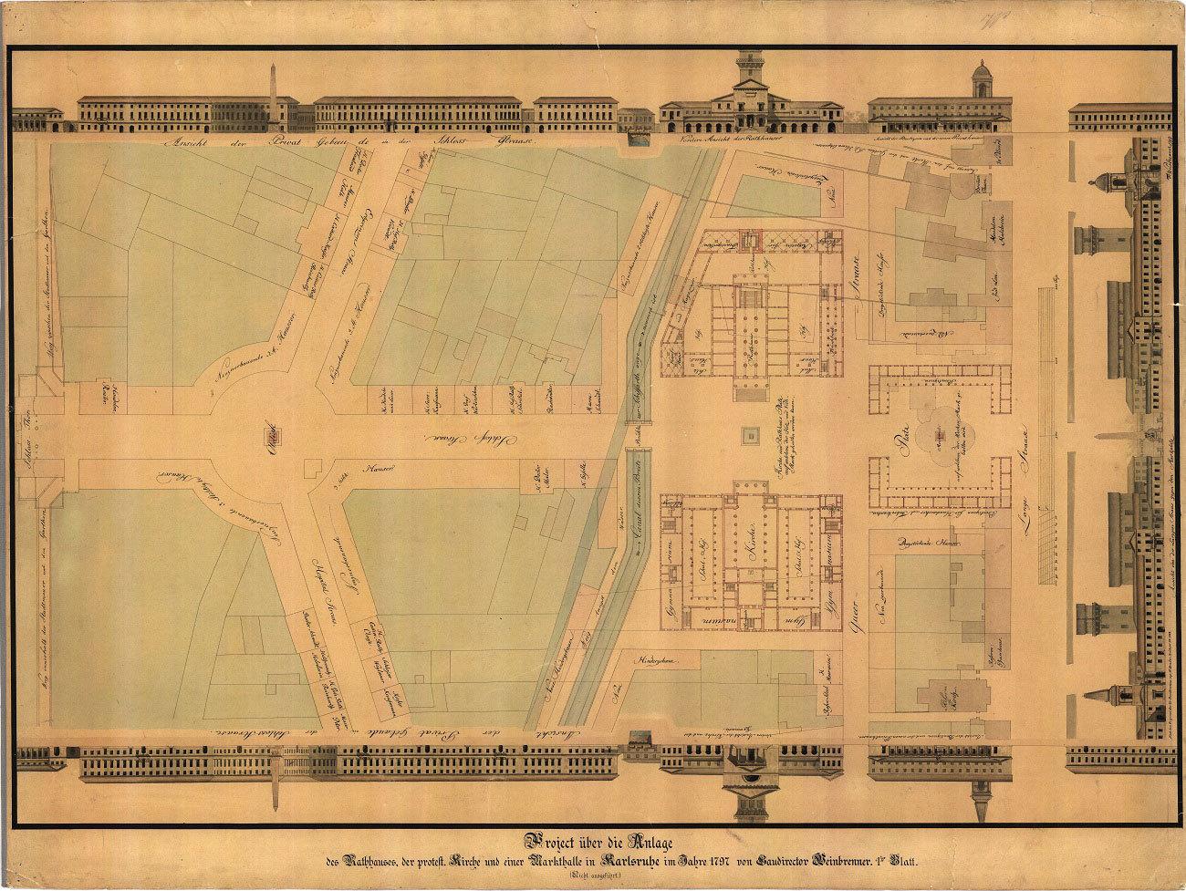 Stadtplan aus dem Jahr 1797