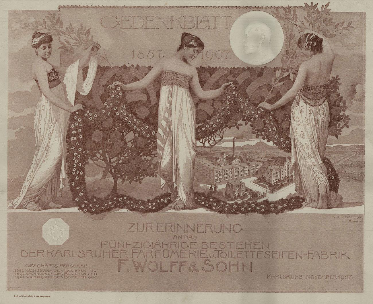 Gedenkblatt 50 Jahre Wolff und Sohn, 1907