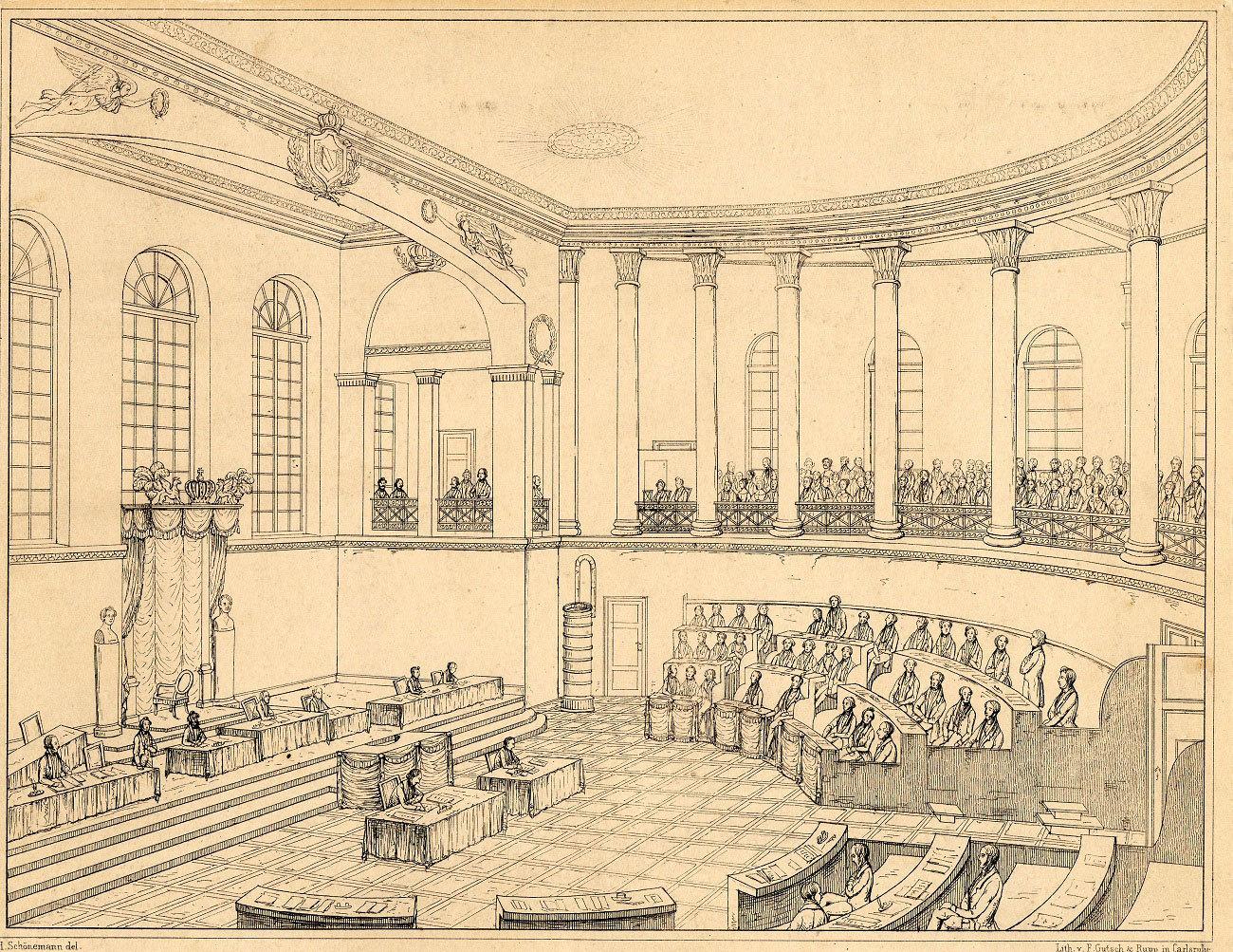 Sitzung der Zweiten Kammer des Badischen Landtags