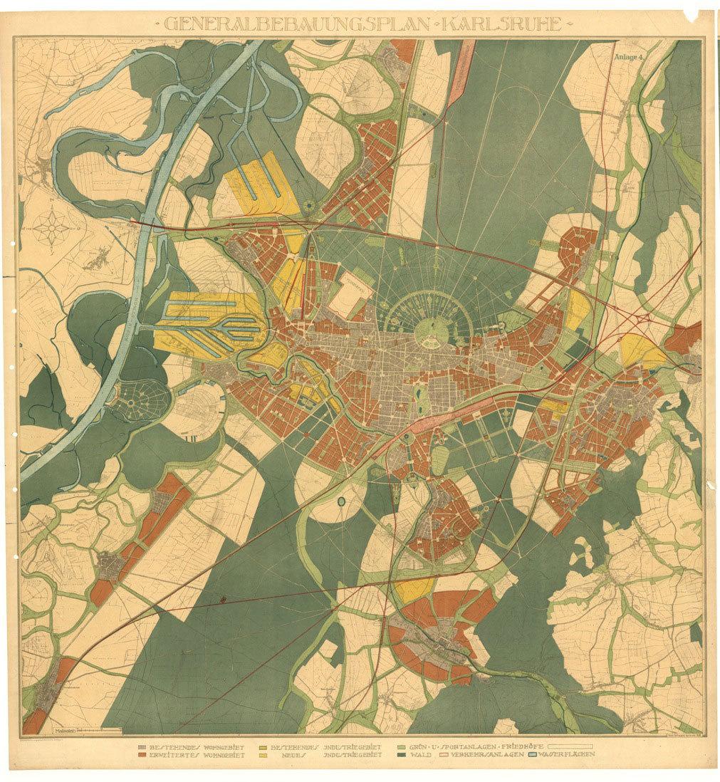 Karlsruher Generalbebauungsplan von 1926