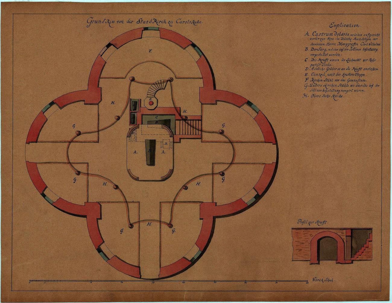 Grundriss der Konkordienkirche