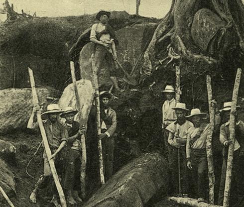 Ausgrabungen an der Meseta A in San Agustín