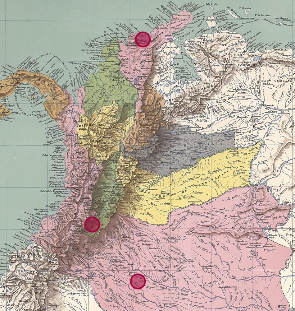 Kolumbienkarte 1890