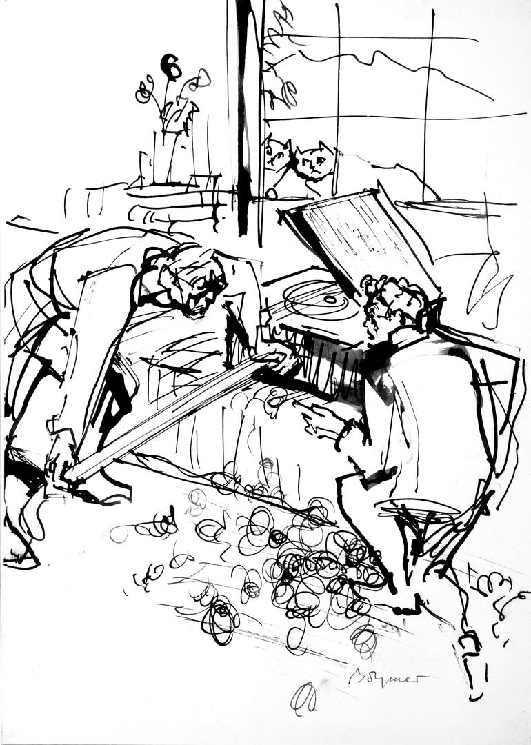Hesse und Plattenspieler.JPG